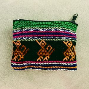 NEW! Aztec embroidered coin purse